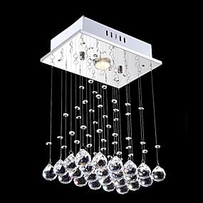 hesapli Gömme Montaj-Kristal Avize Lambalar Aşağı Doğru Eloktrize Kaplama Metal Kristal, Mini Tarzı, LED 110-120V / 220-240V Sıcak Beyaz / Soğuk Beyaz Ampul Dahil / GU10