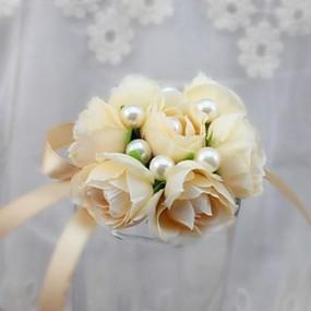 levne Květiny-Svatební kytice Kytice Živůtek na zápěstí Jedinečné svatební dekorace Ostatní Umělé květiny Svatební Zvláštní příležitosti Večírek