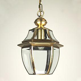 abordables Plafonniers-Lanterne Lampe suspendue Lumière dirigée vers le bas Plaqué Verre Style mini 110-120V / 220-240V Ampoule non incluse / E26 / E27
