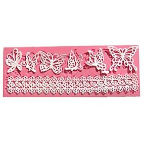 povoljno Kalupi za tortu-leptir silikonski fondant plijesni čipka svadbena torta ukrašavanja alata