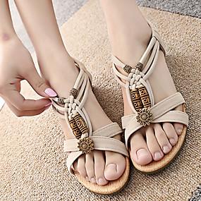 6387737d183d Women s Suede Spring British Sandals Low Heel Peep Toe Rivet White   Black    EU40
