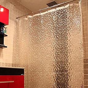 hesapli Duş Perdeleri-Duş perdesi 3d su küpü peva ağır duş perdesi kanca ile banyo için küvet su geçirmez