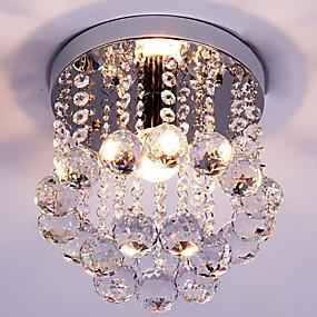 tanie Mocowanie przysufitowe-Podtynkowy Światło rozproszone Chrom Kryształ Kryształ, Styl MIni 110-120V / 220-240V Nie zawiera żarówek / E12 / E14