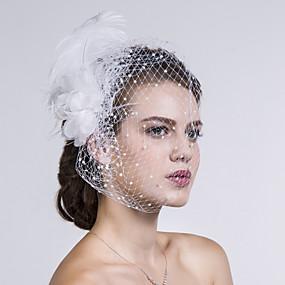 Pelle   Tessuto   A rete Cappelli   Veli da gabbia con Fantasia floreale  1pc Matrimonio   Occasioni speciali   Casual Copricapo b04bf619d929