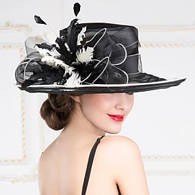povoljno Kentucky Derby Hat-Žene organze kape s vjenčanja / stranačkog glava