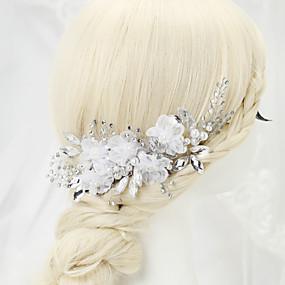 baratos Floral-Imitação de Pérola / Strass / Liga Pentes de cabelo com 1 Casamento / Ocasião Especial Capacete