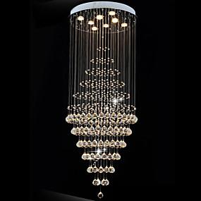 abordables Plafonniers-8 lumières Lampe suspendue Lumière dirigée vers le bas Plaqué Métal LED 110-120V / 220-240V Blanc Crème / Blanc Neige / GU10