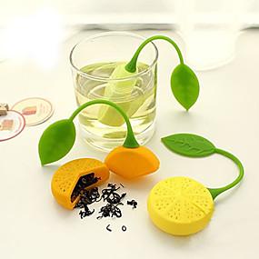 povoljno Kava i čaj-narančasti oblik limuna čaj infuser silikonsko cjedilo filtar vrećica čajnik biljka