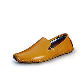 voordelige Wijdere maten schoenen-Heren Nappaleer Lente / Zomer / Herfst Comfortabel Loafers & Slip-Ons Wandelen Zwart / Bruin / Geel / Combinatie / Toimisto & ura / EU41