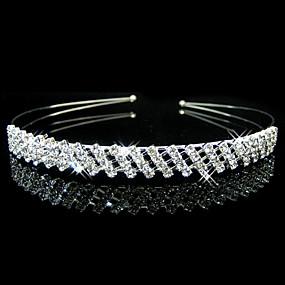 baratos Tiaras-Liga Headbands / Decoração de Cabelo com Floral 1pç Casamento / Ocasião Especial Capacete