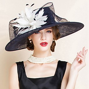cheap Del Mar Hats-Flax Kentucky Derby Hat / Hats with 1 Wedding / Special Occasion Headpiece
