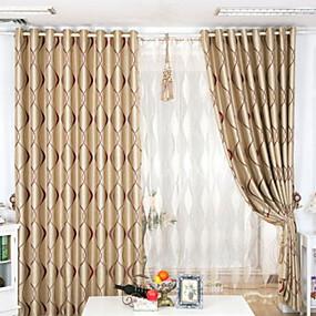 povoljno Zavjese i zastori-izrada zavjese za zamračenje od tkanine po narudžbi, dva panela pepeljaste boje / jacquard / dnevna soba