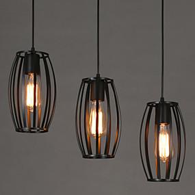 abordables Plafonniers-OYLYW Lampe suspendue Lumière dirigée vers le bas Autres Métal LED 110-120V / 220-240V Blanc / Ampoule non incluse