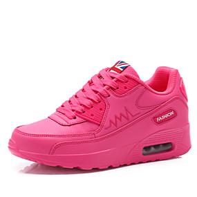 voordelige Damessneakers-Dames / Meisjes Sneakers / Platte schoenen Sleehak / Creepers Tule Comfortabel / Rolschaatsschoenen Lente / Zomer / Herfst Wit / Zwart / Roze