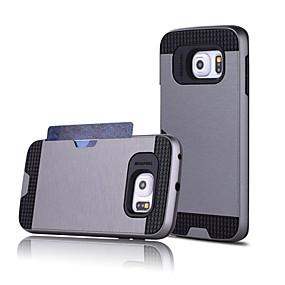 billige Telefoner og tilbehør-Etui Til Samsung Galaxy S7 edge / S7 / S6 edge plus Kortholder Bakdeksel Ensfarget PC