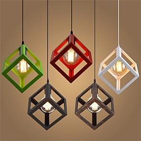 abordables Plafonniers-Géométrique Lampe suspendue Lumière d'ambiance Métal Style mini 110-120V / 220-240V Blanc Crème Ampoule non incluse / E26 / E27