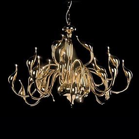 billige Takbelysning og vifter-Lysekroner Omgivelseslys Gylden Metall LED 110-120V / 220-240V Varm Hvit Pære Inkludert / G4