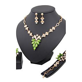 baratos Jóias-Mulheres Outros Conjunto de jóias Anéis / Brincos / Colares - Regular Para Casamento / Festa / Aniversário