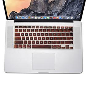 voordelige Mac-accessoires-houtmotief ontwerp siliconen toetsenbord cover skin voor MacBook Air 13,3, MacBook Pro met Retina 13 15 17 ons lay-out