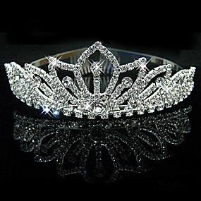 abordables Joyería para Boda y Fiesta-Mujer Diamantes Sintéticos Cristal Aleación Celada-Boda Ocasión especial Tiaras 1 Pieza