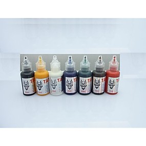 povoljno Tinta za tetovaže-BaseKey Tattoo Ink 7 x 20 ml Profesionalna - Multi-color / Crn / žuta