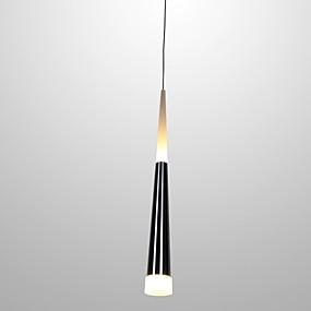abordables Plafonniers-Ecolight™ Cône Lampe suspendue Lumière d'ambiance Plaqué Métal Acrylique LED 90-240V Blanc Crème / Blanc Source lumineuse de LED incluse / LED Intégré