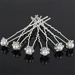 povoljno Dodaci za kosu-Guma dijamantne ukosnice biser vjenčanica pribor male kose kopča u obliku slova U clip 10pcs