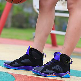 baratos Sapatos Esportivos Masculinos-Homens Sapatos Confortáveis Couro / Microfibra Primavera / Verão / Outono Basquete Botas Curtas / Ankle Branco / Roxo / Vermelho / Atlético / Cadarço / EU40
