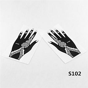 voordelige airbrush tattoo-Airbrush tatoeages-Non Toxic / Patroon / Tribal / Henna