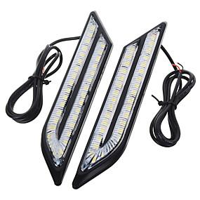 billige Billamper-exLED 2pcs Bil Elpærer 24 W SMD 5630 500 lm 66 LED Dagkjøringslys Til