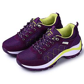 baratos Sapatos Esportivos Femininos-Mulheres Tênis Sem Salto Tule Conforto Corrida Primavera / Outono Cinzento / Roxo / Fúcsia