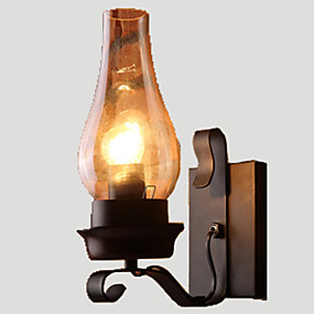 cheap Wall Lights-Lightinthebox Rustic / Lodge / Vintage / Retro Wall Lamps & Sconces Metal Wall Light 110-120V / 220-240V 60W