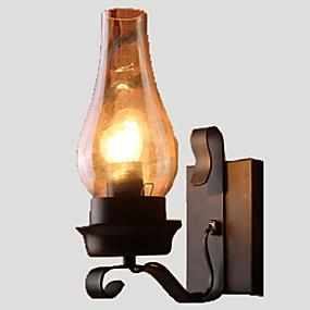 ราคาถูก เชิงเทียนติดผนัง-Lightinthebox ลอดจ์ / ชนบท / วินเทจ / Retro โคมไฟติดผนัง โลหะ โคมไฟติดผนัง 110-120โวลล์ / 220-240โวลต์ 60W