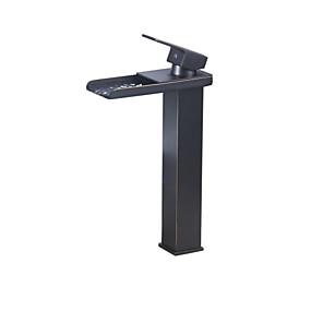 cheap Home Improvement-Bathroom Sink Faucet - Thermostatic Antique Bronze Vessel Single Handle One HoleBath Taps