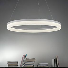 billige Hengelamper-Sirkelformet Anheng Lys Omgivelseslys Malte Finishes Metall Akryl LED 90-240V Varm Hvit / Hvit / Wi-Fi Smart