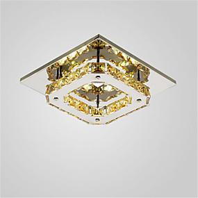 tanie Mocowanie przysufitowe-CXYlight Podtynkowy Światło rozproszone Galwanizowany Metal Kryształ, Styl MIni, LED 90-240V Ciepła biel / Biały Źródło światła LED w zestawie / LED zintegrowany