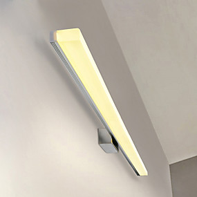 hesapli Asma Dolap Işıkları-89 cm 20 w modern led ayna lambası banyo ışıkları paslanmaz ve akrilik duvar ışıkları makyaj aydınlatma