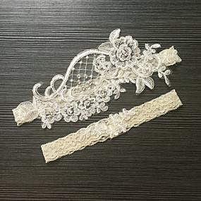abordables Ligas para Novia-Encaje / Satén Estirado Clásico / Moda Liga de la boda Con Perla de Imitación / Flor Ligas