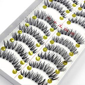 tanie Sztuczne rzęsy-Sztuczne rzęsy 20 pcs Rozszerzony Podniesione rzęsy Większa objętość Włókno Pełne rzęsy Splot krzyżowy Naturalna długość - Makijaż Makijaż codzienny Makijaż imprezowy Kosmetyk Akcesoria do czesania