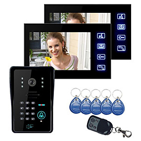 Door Intercom 7 Inch Video Door Phone Doorbell Intercom Kit 1-camera 1-monitor Night Vision With 700tvl Camera For Sale