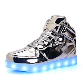 c8d44de40 للصبيان أحذية المواد التركيبية الشتاء مريح / بوتي (جزمة الكاحل) / أحذية  مضيئة كتب دانتيل إلى الأطفال الصغار (4-7 سنوات) أسود / فضي / أحمر