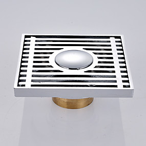cheap Faucet Accessories-Faucet accessory - Superior Quality - Contemporary Brass Floor Drain - Finish - Chrome