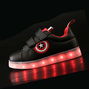 cheap LED Shoes-Boys' Shoes PU(Polyurethane) Spring & Summer Comfort / Light Up Shoes Sneakers LED for White / Black / TR / EU36