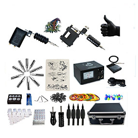 cheap Tattoos & Body Art-BaseKey Tattoo Machine Professional Tattoo Kit - 2 pcs Tattoo Machines, Professional Alloy 20 W Analog power supply Case Included 2 rotary machine liner & shader