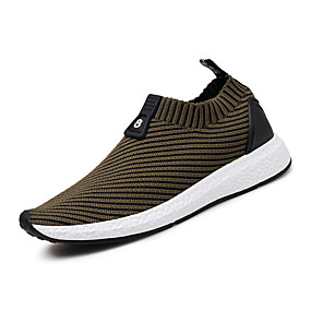 billige Herresneakers-Herre Komfort Sko Strik Forår / Sommer Sneakers Løb Grå / Rød / Kakifarvet / Atletisk / udendørs / Lys soler