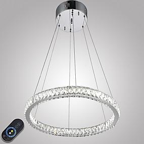 abordables Plafonniers-Lampe suspendue Lumière d'ambiance Plaqué Métal Cristal, Intensité Réglable, LED 110-120V / 220-240V Source lumineuse de LED incluse / LED Intégré