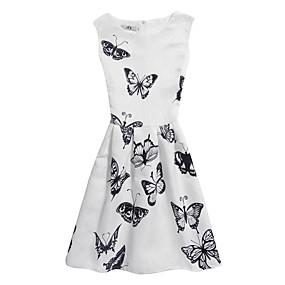 86fc4b013109 Dívka je Polyester Tisk Léto Šaty