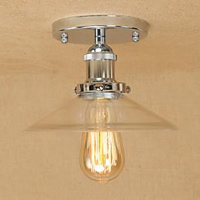 povoljno Poboljšanje uvjeta stanovanja-Privjesak Svjetla Ambient Light Electroplated Metal Glass Mini Style, dizajneri 110-120V / 220-240V Bulb Included / E26 / E27