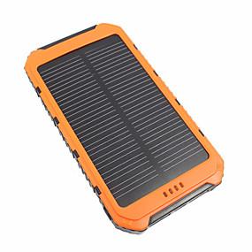 billige Mobiltilbehør-10000 mAh Til Power Bank Eksternt batteri 5 V Til 3.1 A / # Til Batterilader Vanntett / Flere utganger / Solenergilading LED