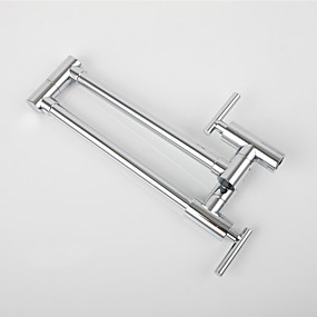 cheap Kitchen Faucets-Kitchen faucet - Single Handle One Hole Chrome Standard Spout / Tall / ­High Arc / Pot Filler Wall Mounted Contemporary / Art Deco / Retro / Modern Kitchen Taps